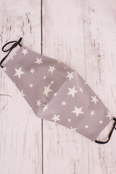 Star Pattern Print Face  Mask