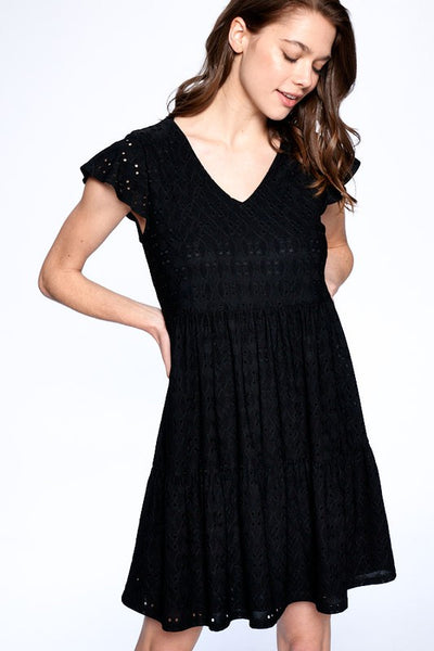Natasha Eyelet Babydoll Dress