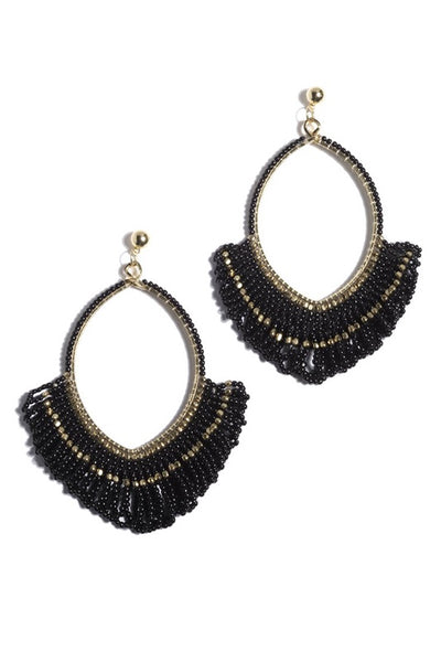 Black Dia Earings