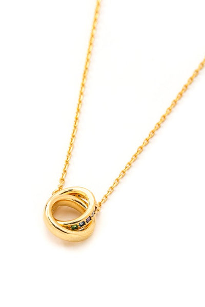 Dainty Double Loop Gold Necklace