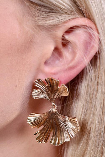 Martey Metal Leaf Drop Earring