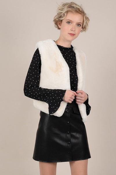 Plush Faux Fur Vest