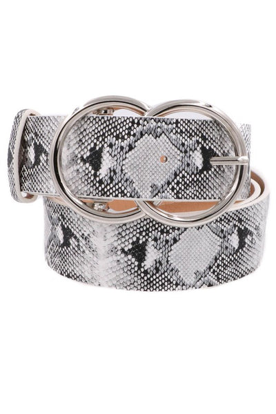 Double Ring Snake print Belt