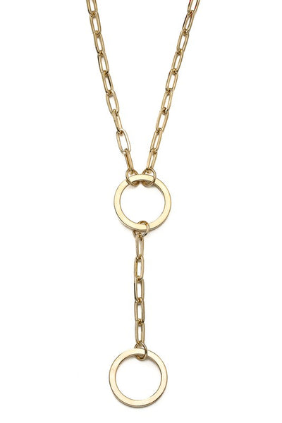Bold Chain Loop Toggle Necklace