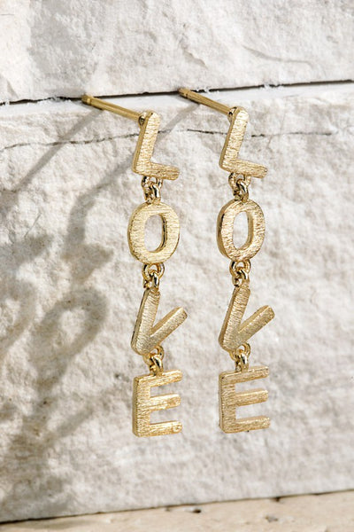 Love letter drop earrings