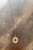 Pave Starburst Disc Necklace