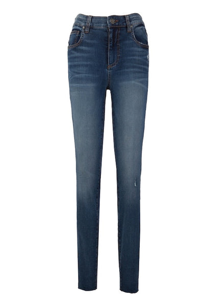 Mia High Rise Ankle Skinny With Raw Hem