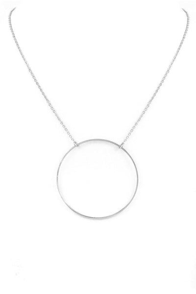 Open Metal Ring Pendant Necklace