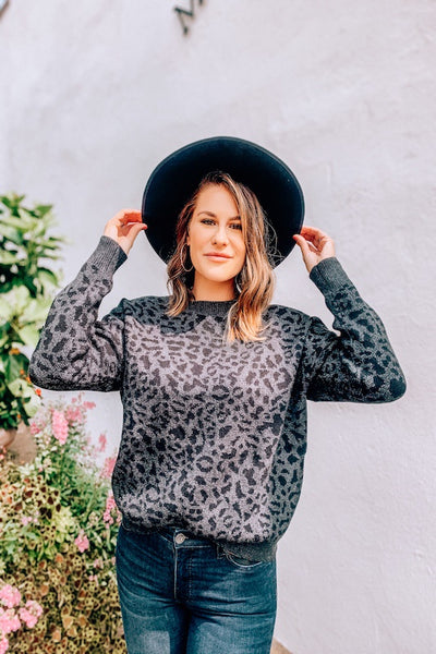 Crew Neck Leopard Sweater