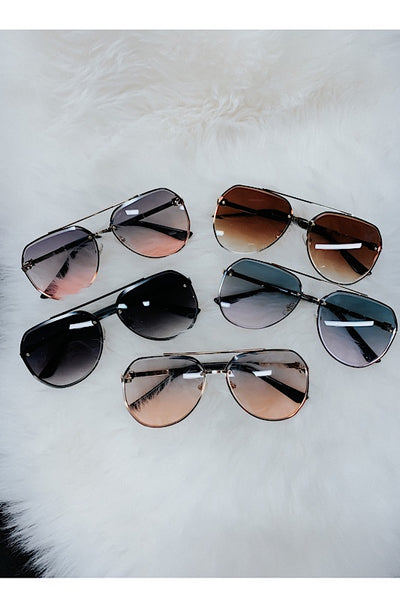Jeweled Aviator Sunglasses