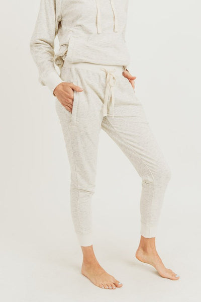 Melange Terry Knit Drawstring Sweatpants