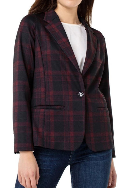 Fitted Blazer with Detachable Faux Fur Collar