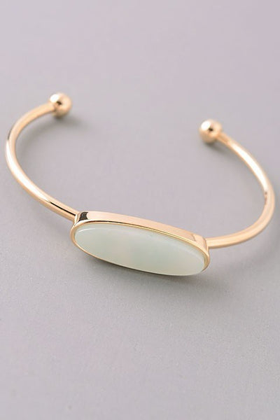Dainty Cuff with Mint Stone