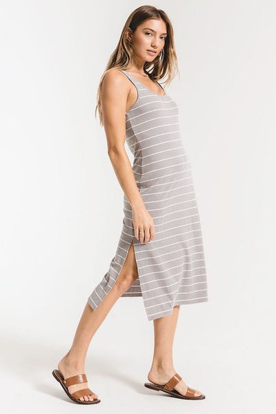 The Seri Stripe Rib Tank Dress