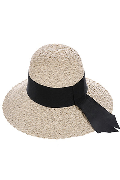 Ribbon Band Woven Straw Hat