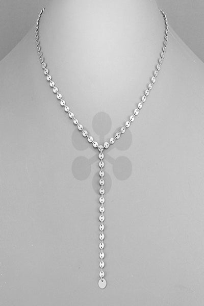 Y Drop Disc Chain Necklace