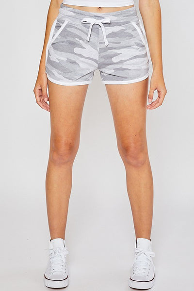 Basic French Terry Camo Shorts