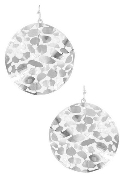 Metal Cut Out Circle Earring