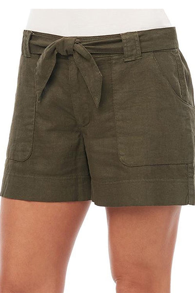 High Rise Wrap Around Pocket Short with Belt