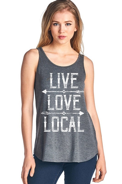 Live, Love, Local Tank Top