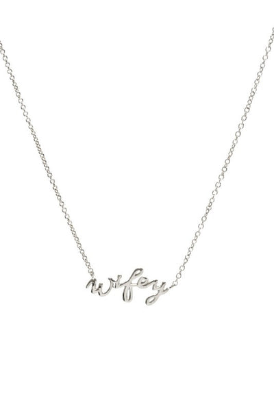 Wifey Letter Charm Chain Necklace