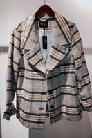 Plaid Open Jacket