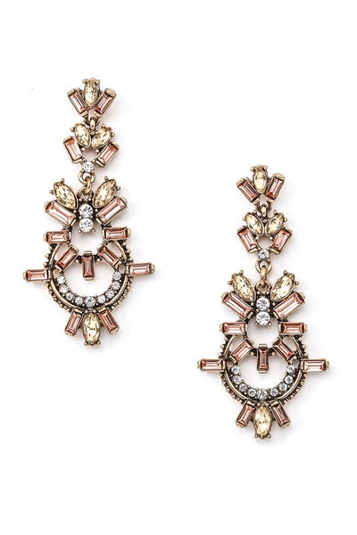 Jeweled Drop Post Earring