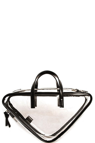 Fashion Transparent Princess Triangle Bag