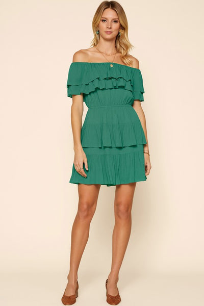 Ruffled Off the Shoulder Dress