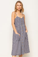 Checker Button Down Dress