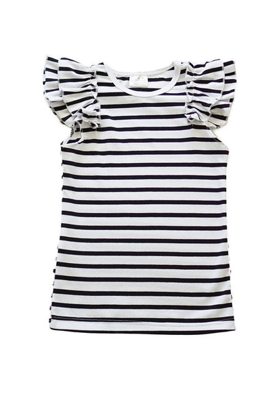 Kid's Stripe Angel Sleeve Tee