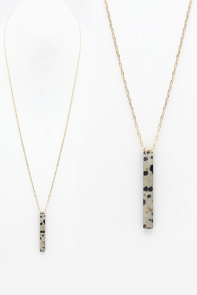 Bar Shape Pendant Necklace
