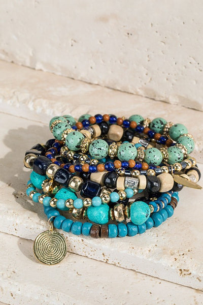 Chunky Mixed Bead bracelet set