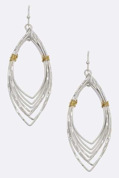 2 Tone Multi Wire Earring
