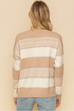 Stripe Sweater with Criss Cross Detail