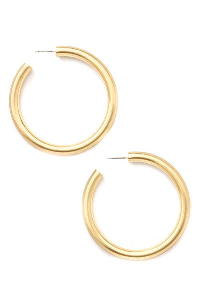 Thick Gold Hoop
