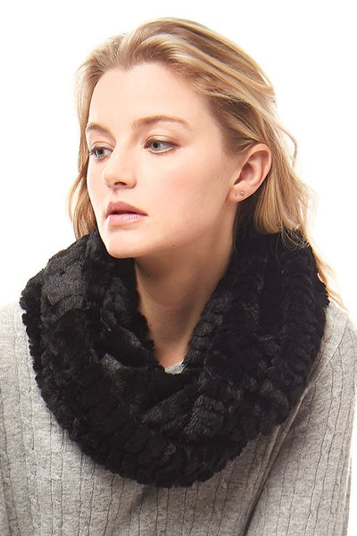 Solid Faux-Fur Infinity Scarf
