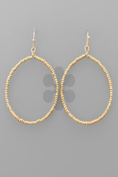 Seed Bead Circle Earring
