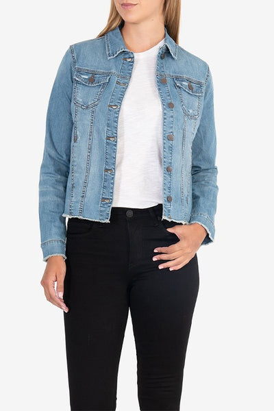 Arielle Jacket with Raw Hem