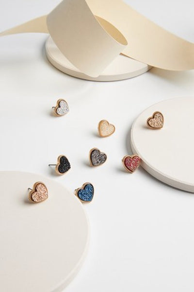 Heart Shaped Post Earrings