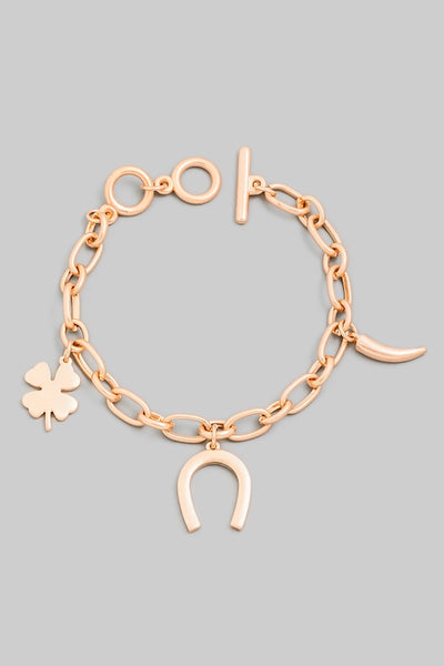 Horse Shoe Toggle Chain Bracelet