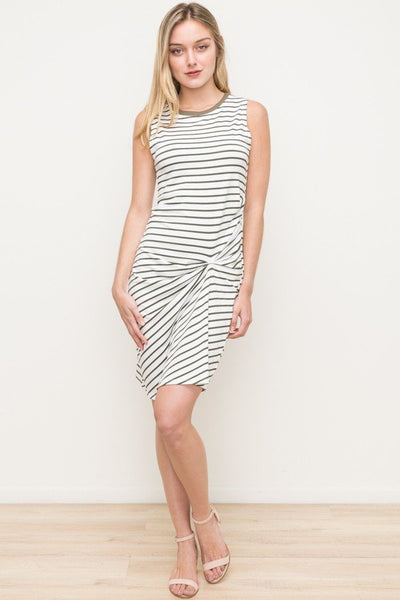 Drapey Stripe Tank Dress