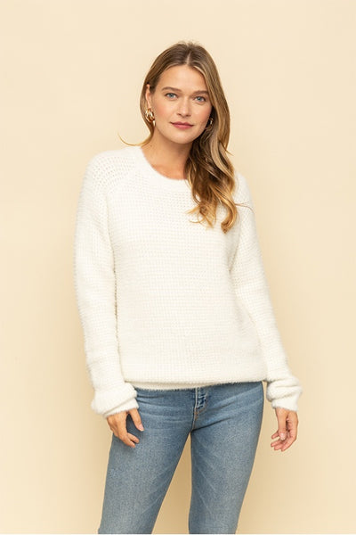 Fuzzy Round Neck Sweater