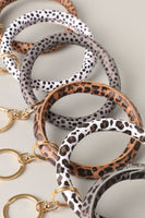 Animal Skin Circle Bracelet Bangle Key Chain