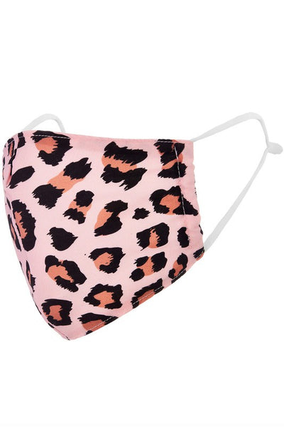 Leopard print pink facemask