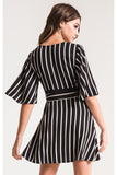 Morgan Stripe Wrap Dress