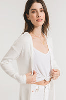 The Textured Rib Duster Cardigan