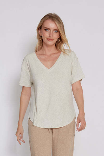 Lucia Short Sleeve Boxy Top