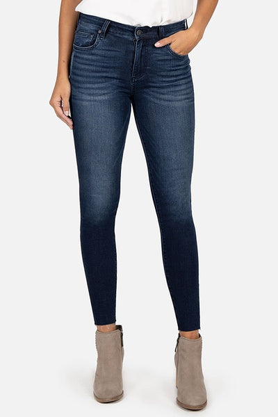 Connie High Rise Ankle Skinny Seed