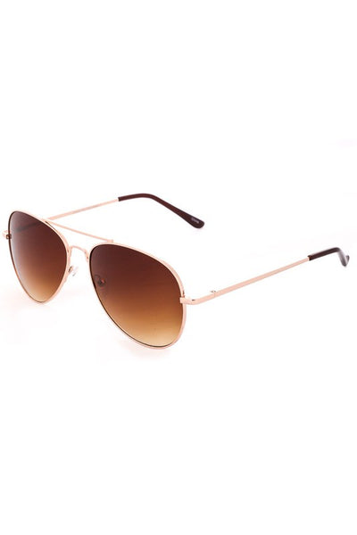 Metal Flat Top Aviator Sunglasses